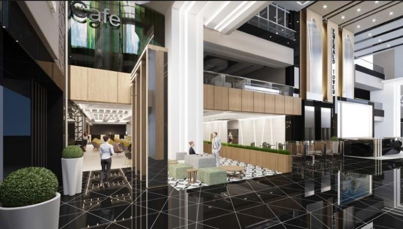 В БЦ «Emerald Tower» началась реконцепция 1, 2 и 3 этажей.
